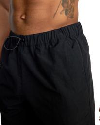 "7 Outsider Packable Elastic Shorts 17"" Black AVYWS00147 RVCA"