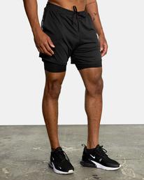 """4 Sport Vent Running Shorts 15"""" Black AVYWS00148 RVCA"""