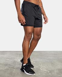 """5 Sport Vent Running Shorts 15"""" Black AVYWS00148 RVCA"""