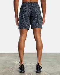 "1 Matt Leines | VA Sport x Leines Yogger Stretch Athletic Shorts 17"" Black AVYWS00150 RVCA"