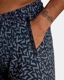 "6 Matt Leines | VA Sport x Leines Yogger Stretch Athletic Shorts 17"" Black AVYWS00150 RVCA"