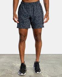 "0 Matt Leines | VA Sport x Leines Yogger Stretch Athletic Shorts 17"" Black AVYWS00150 RVCA"