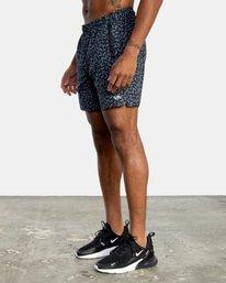 "3 Matt Leines | VA Sport x Leines Yogger Stretch Athletic Shorts 17"" Black AVYWS00150 RVCA"