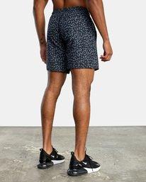 "4 Matt Leines | VA Sport x Leines Yogger Stretch Athletic Shorts 17"" Black AVYWS00150 RVCA"