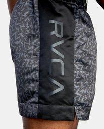 "6 Matt Leines | VA Sport Leines Boxing Shorts 17"" Black AVYWS00151 RVCA"