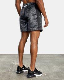 "4 Matt Leines | VA Sport Leines Boxing Shorts 17"" Black AVYWS00151 RVCA"