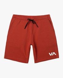 """0 VA SPORT IV 17"""" SWEAT SHORT Red AVYWS00152 RVCA"""