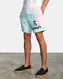 3 Jesse Lortz | RVCA x Jesse Lortz Elastic Shorts White AVYWS00170 RVCA