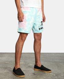 5 Jesse Lortz | RVCA x Jesse Lortz Elastic Shorts White AVYWS00170 RVCA