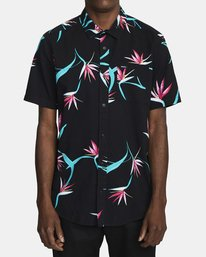 0 DREAM LAGOON SHORT SLEEVE SHIRT Black AVYWT00106 RVCA