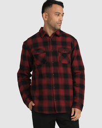 4 REPLACEMENT LONG SLEEVE FLANNEL  AVYWT00131 RVCA
