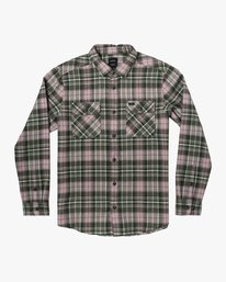 0 OPERATOR FLANNEL LONG SLEEVE SHIRT Green AVYWT00137 RVCA
