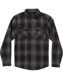 0 Vesuvio Long Sleeve Flannel Shirt Black AVYWT00169 RVCA