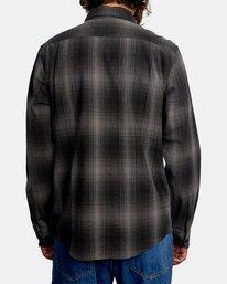 2 Vesuvio Long Sleeve Flannel Shirt Black AVYWT00169 RVCA