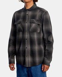 4 Vesuvio Long Sleeve Flannel Shirt Black AVYWT00169 RVCA