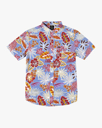 0 Singapore Sling Floral Short Sleeve Shirt Orange AVYWT00180 RVCA