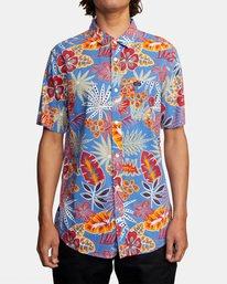 1 Singapore Sling Floral Short Sleeve Shirt Orange AVYWT00180 RVCA