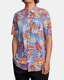 4 Singapore Sling Floral Short Sleeve Shirt Orange AVYWT00180 RVCA
