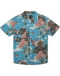 0 Kyuka Short Sleeve Shirt Brown AVYWT00191 RVCA