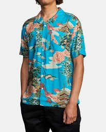 3 Kyuka Short Sleeve Shirt Brown AVYWT00191 RVCA