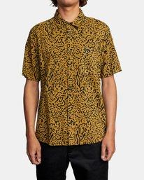 2 Strangers Short Sleeve Shirt Green AVYWT00193 RVCA