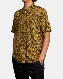 4 Strangers Short Sleeve Shirt Green AVYWT00193 RVCA