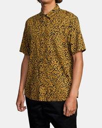 5 Strangers Short Sleeve Shirt Green AVYWT00193 RVCA