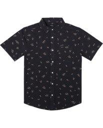 0 Falling Sakura Short Sleeve Shirt Black AVYWT00198 RVCA