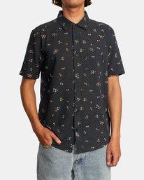 1 Falling Sakura Short Sleeve Shirt Black AVYWT00198 RVCA