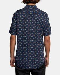 2 La Fleur Short Sleeve Shirt Blue AVYWT00204 RVCA