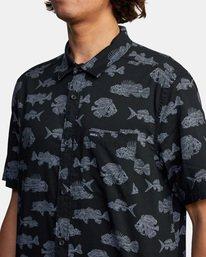 5 Ben Horton | Dead Fish Short Sleeve Shirt Black AVYWT00205 RVCA