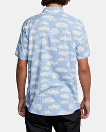 2 Ben Horton   Dead Fish Short Sleeve Shirt Blue AVYWT00205 RVCA