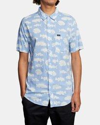 1 Ben Horton   Dead Fish Short Sleeve Shirt Blue AVYWT00205 RVCA