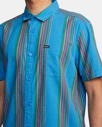 4 El Rosario Stripe Short Sleeve Shirt Blue AVYWT00207 RVCA