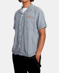 4 Evan Mock | W 16th St. Short Sleeve Shirt Grey AVYWT00213 RVCA