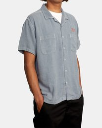 5 Evan Mock | W 16th St. Short Sleeve Shirt Grey AVYWT00213 RVCA