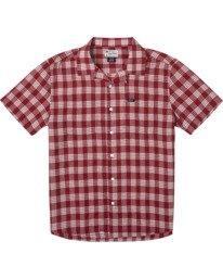 0 Evan Mock | Palaka Short Sleeve Shirt Brown AVYWT00217 RVCA