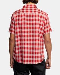 2 Evan Mock | Palaka Short Sleeve Shirt Brown AVYWT00217 RVCA