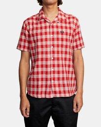 1 Evan Mock | Palaka Short Sleeve Shirt Brown AVYWT00217 RVCA