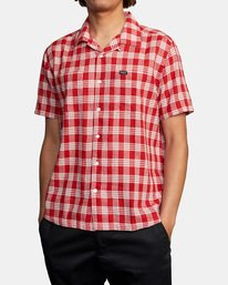 3 Evan Mock   Palaka Short Sleeve Shirt Brown AVYWT00217 RVCA