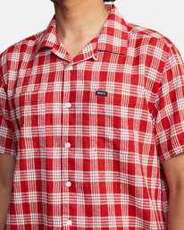 4 Evan Mock | Palaka Short Sleeve Shirt Brown AVYWT00217 RVCA