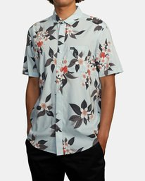 3 Anaheim Short Sleeve Shirt Green AVYWT00220 RVCA