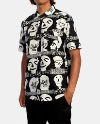 4 Matt Leines   Leines Short Sleeve Shirt Black AVYWT00223 RVCA