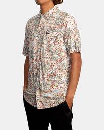 4 Baritone Short Sleeve Shirt White AVYWT00227 RVCA