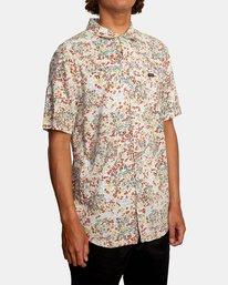 5 Baritone Short Sleeve Shirt White AVYWT00227 RVCA