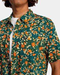3 Baritone Short Sleeve Shirt Orange AVYWT00227 RVCA