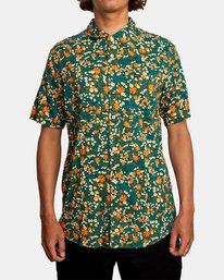1 Baritone Short Sleeve Shirt Orange AVYWT00227 RVCA