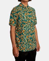 5 Baritone Short Sleeve Shirt Orange AVYWT00227 RVCA