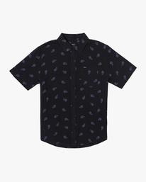 0 Colours Paisley Short Sleeve Shirt Black AVYWT00228 RVCA