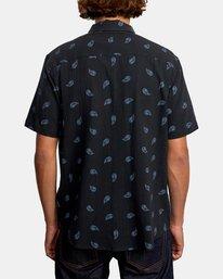 2 Colours Paisley Short Sleeve Shirt Black AVYWT00228 RVCA